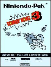 Donkey Kong 3 Arcade Video Game Full Service & Repair Operations Manual Guide Tb