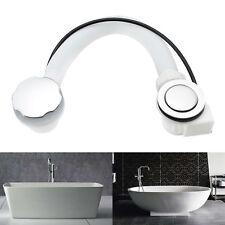 Concealed Bath Overflow Pop-Up Plug Waste & Twist Chrome Handle and Plastic Pipe