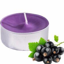 20x Blackcurrant Scented Candles Large Tealight T Lights Fragrant 7hr Burn Time