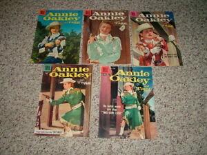 Lot of 5 Annie Oakley Dell Western TV Comics