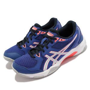 Asics GEL-Rocket 10 Blue White Women Volleyball Badminton Shoes 1072A056-402