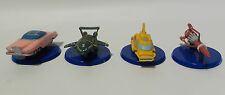 THUNDERBIRDS : THUNDERBIRD 2,3,4 & FAB 1 NESCAFE MINI PLASTIC MODELS