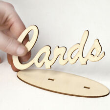 Wooden Letters Cards Sign Wedding Birthday Party Reception Table Decoration