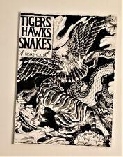 Tattoo Design Black & Grey 51 page Tigers, Hawks & Snakes Flash Book