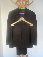 "mens LIMEHAUS BROWN PINSTRIPE SUIT SIZE 40"" CHEST REGULAR - 34""WAIST - 30""LEG"