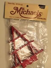 Red Wooden Christmas Tree Ornament Michaels #972018 NIP