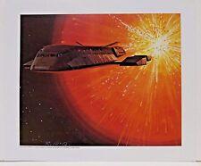 """Ralph McQuarrie Battlestar Galactica Art Print #24- Shuttle Escapes 11""""x13"""""""