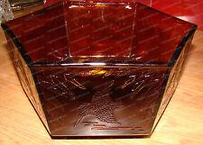 1932 Kingfisher (Bird) Hexagon Serving Bowl (Sherdley Glass St. Helens) RD810280
