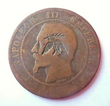 NAPOLEON III  10 centimes contremarque colombe SATIRIQUE