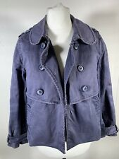 H&M Blue Cotton Jacket Worn Out Style Washed Out Size 34