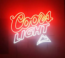 "New Coors Light Mountain Beer Neon Light Sign 17""x14"""