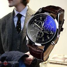 Hot Luxury Mens Watch Quartz Wrist Watch Casual Wristwatches Blue Ray Glass