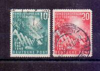 Bund 1949 - Bundestag MiNr. 111/112 rund gestempelt - Michel 45,00 € (582)