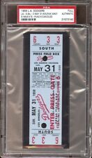 1959 L.A. Dodgers PSA Full Ticket  Sandy Koufax 21 Career Win /9K