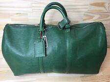 Authentic Louis Vuitton Epi Keepall 50 Boston Travel Bag Carry On  Borneo Green