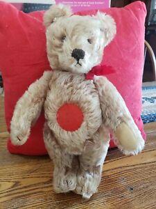 """Wonderful 1950's Steiff 14"""" Musical Mohair Teddy Bear"""