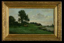"Ciceri, Eugène -Pseudon.Gérard- *1813-1890 Frankr. Barbizonmaler ""Ländl.Idylle"""