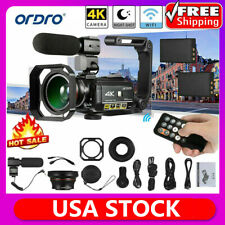4K WiFi Digital Camera DV Camcorder 24MP 30X Zoom IR Video Recorder w/ Extra Mic