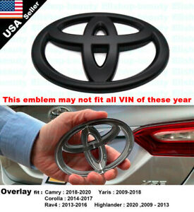 New! Overlay Emblem Badge For Toyota Camry Corolla Highlander Rav4 Yaris Rear