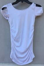 $52 NWT Sally Miller Brand Solid White Cool Shoulder Design Tunic Size 10 Medium