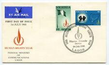FDC - LAGOS - NIGERIA - Human Rights Year - 1968.