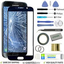 Samsung Galaxy S7 Noir Remplacement Écran Verre Avant Lentille Kit Réparation + Bande 2 mm