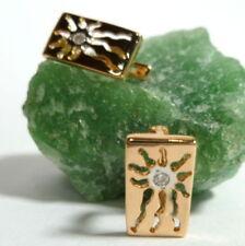 Pendientes de joyería transparentes de oro rosa
