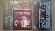 Megadeth – Killing Is My Business...POLAND  TAPE 1991 EX/EX..FREE SHIPPING