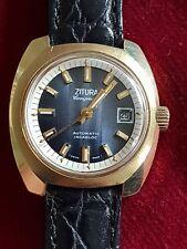 Rare Ladies Vintage Gold Plated Zitura Compressor 21J ETA Automatic Wrist Watch