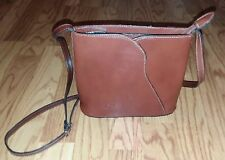 Vtg Pelle Small Crossbody Brown Leather Purse Bag Handbag Handcrafted in Italy