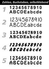 Hausnummer Zahl aus Folie geschnitten kein Druck Klebebuchstaben