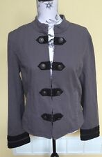 Lord & Taylor Charcoal Gray Ladies Fashion Jack/Blazer Size 12