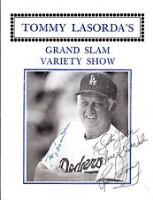 TOMMY LASORDA'S Grand Slam Variety Show Program SIGNED  Lasorda  Rick Dempsey