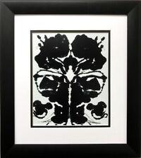 Andy Warhol Rorschach, 1984 (3) CUSTOM FRAMED Pop Art Psychology Psychiatry Test