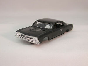 MODEL MOTORING BLACK '67 CHEVELLE SHELL ~ NEW ~ FITS AURORA TJET