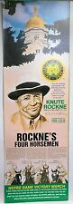 """1990's Notre Dame Knute Rockne with the Four Horsemen Poster 11 3/4"""" x 36"""""""