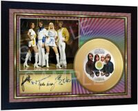 Abba Hits Mini Gold Vinyl CD Record Signed Framed Photo Perfect Gift
