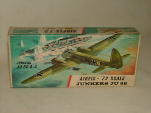 VINTAGE AIRFIX MILITARY AIRCRAFT MODEL KIT 1:72 GERMAN JUNKERS JU 88 A-4 No.387
