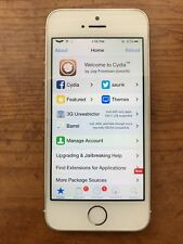  RARE  iPhone 5s Jailbroken iOS 9.2.1 16GB Silver AT&T