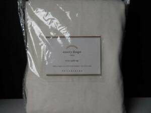 "Pottery Barn (1) Emery Linen/Cotton Rod Pocket Curtain-100' x 84"" White-Nwt..."