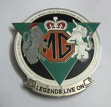 CAR BADGES-  LEGEND LIVE ON MG CAR CLUB CAR GRILL BADGE EMBLEM MG JAGUAR TRIUMPH