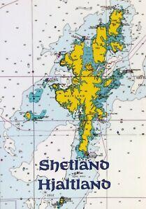 Mint MAP Postcard : NAUTICAL CHART of SHETLAND / HJALTLAND - Scotland