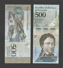 VENEZUELA 500 BOLIVARES 2016 FRANCISCO DE MIRANDA CRISP UNCIRCULATED CURRENCY