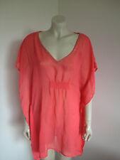 Target Orange Chiffon Kimono Sleeve Beach Tunic Size 16