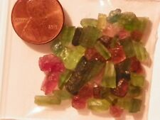 Tourmaline 50 Carats Crystal Specimens Facet Rough Pink And Green Mix Grades