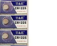 3x New CR1225 Lithium Battery 3V Button Battery 3 volts CR1225 Expires 12/2021