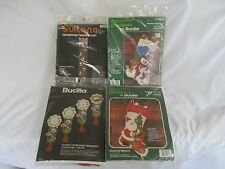 Lot of Christmas Bucilla crossstitch NIP stocking kits Frosty & Friends