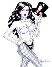 ZATANNA ORIGINAL COMIC ART 4 BY COMIC BOOK  ARTIST JAMES CHEN