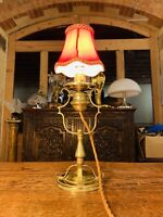 Antique Brass Royal Navy Ships Marine 'Gimbal' English Table Lamp