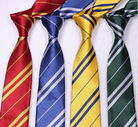 Corbata traje a rayas corbata Harry Potter casa de Hogwarts-mago escuela Fancy